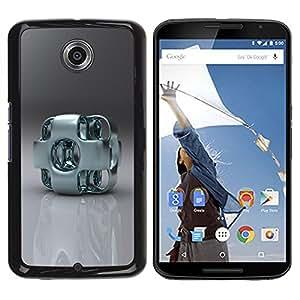 TopCaseStore / la caja del caucho duro de la cubierta de protección de la piel - Abstract Metal Art - Motorola NEXUS 6 / X / Moto X Pro