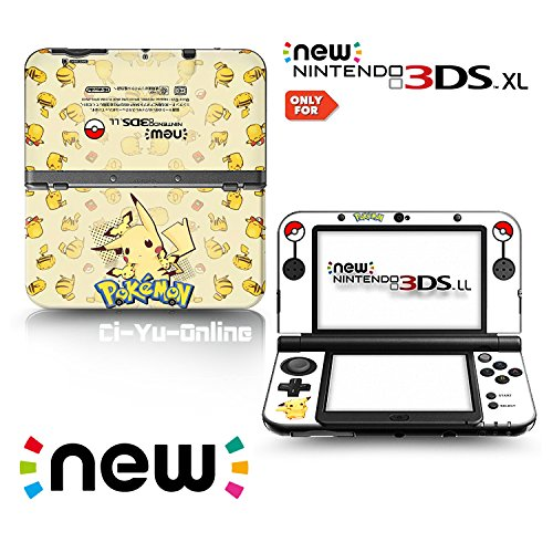 Ci-Yu-Online VINYL SKIN [new 3DS XL] - Pokemon #3 Pikachu Yellow - Limited Edition STICKER DECAL COVER for NEW Nintendo 3DS XL / LL Console System