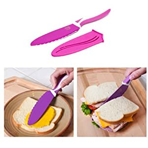 Sandwich Knife - Nonstick 5-in Blade - Purple