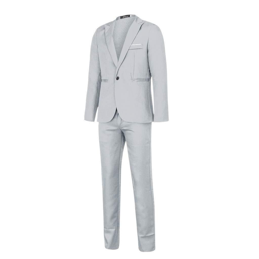 Traje Suit Hombre 2 Piezas Chaqueta Chaleco Pantal/óN Traje al Estilo Occidental Blazers Negocios Slim Fit Chaquetas de Traje Trajes Hombre para Boda vpass