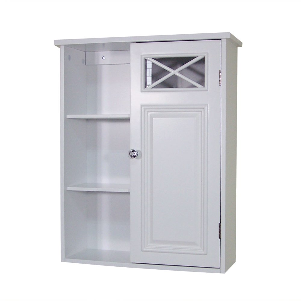 Bon Amazon.com: Elegant Home Fashions Dawson Collection Shelved Wall Cabinet  With Storage Cubbies, White: Kitchen U0026 Dining