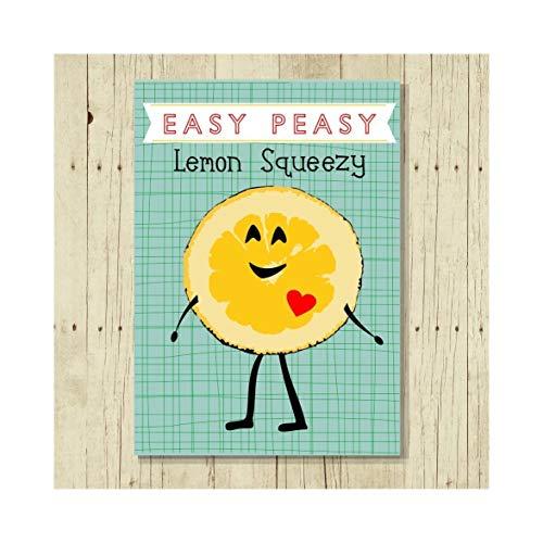 Easy Peasy Lemon Squeezy Funny Magnet 2.5 x 3.5