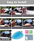 WeYingLe 4PC Anti-Fog Car Rearview Mirror