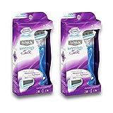 Schick Hydro Silk Razor for Women, Includes 2 Moisturizing Razor Blade Refills
