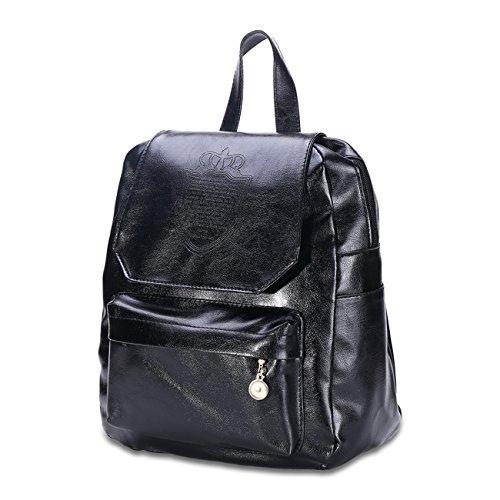Minicatvc Fishon College Winds PU Black Zipper for Women Handbag / Shoulder Bags / Diagonal Package / Oblique Cross Package - CB00027