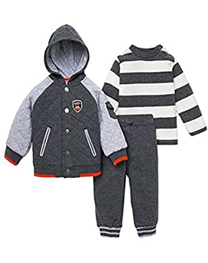Boys' Quilted Hooded MVP Jacket Pant Set, 12m