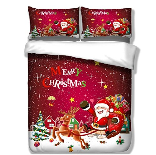 cheap trust 100 3d christmas gift bedding sets polyester fully