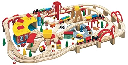 Maxim Wooden Train Set 145 Pieces