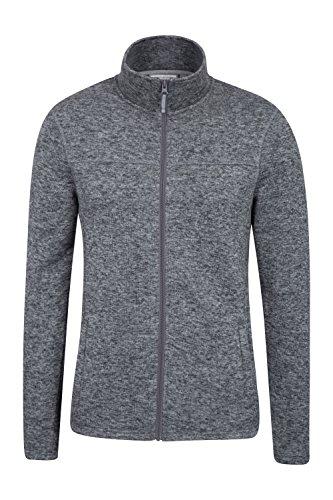 Grey Full Zip Sweater - Mountain Warehouse Idris Mens Full Zip Fleece -Soft All Season Jacket Grey Large