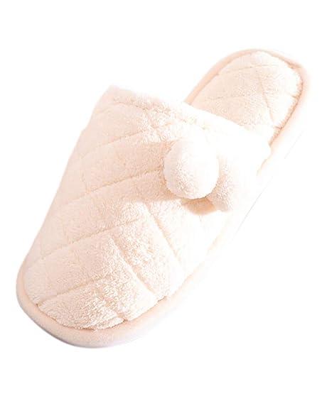 Suncaya Donna Uomo Coppie Pantofole Invernali Ciabatte Calde Peluche  Morbido Interno Antiscivolo Pantofole 88f487b4dc7