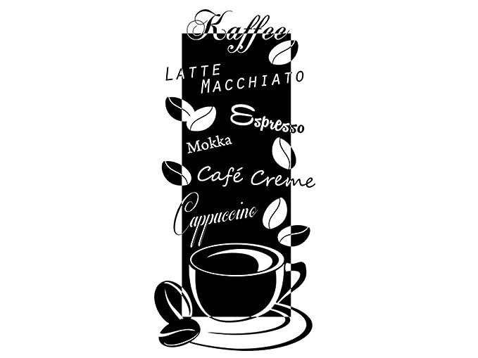 Wandtattoo Bilder® Wandtattoo Kaffee Nr 3 Coffee Cafe Küche Esszimmer  Banner Wandsprüche Größe 45x95,