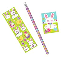 Amscan Egg-Stra Special Easter Bunny Stationary Set Party Favors (3 Pack), 9.40 X 2.60, Multicolor