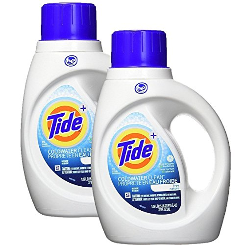 Tide Coldwater Clean Fresh Scent HE Turbo Clean Liquid Laundry Detergent, 1.09 L (19 loads)(PACK OF 2) - Packaging May Vary