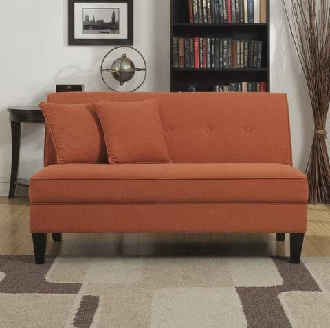 Baxton Studio 2-Seater Tufted Loveseat in Walnut and Light Gray
