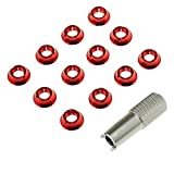 #5: Soulload STAR POWER Radio Control Transmitter Switch Red Nut for Futaba JR RC Toys 12-Piece with 1pc Wrench