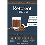 Sated Keto Meal Shake Chocolate (Ketolent) | 30 Meal Kit | 3.5g Net Carbs | Low Carb Meal Replacement Shake | Optimized for Complete Nutrition
