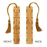 Peter Pan Quote - J.M. Barrie Engraved Wooden Bookmark with Tassel - Personalized version also available - search B071RKP2RC