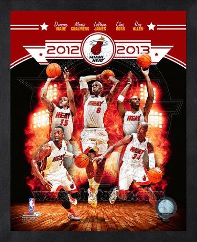 2012 Team Framed Photo - Miami Heat 2012-2013 Framed NBA Team Composite Photo 16x20