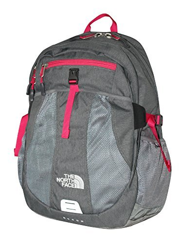 The North Face Women Recon laptop backpack book bag 17X14X4 (Zinc Grey Heather) (Zinc Grey North Face Backpack)
