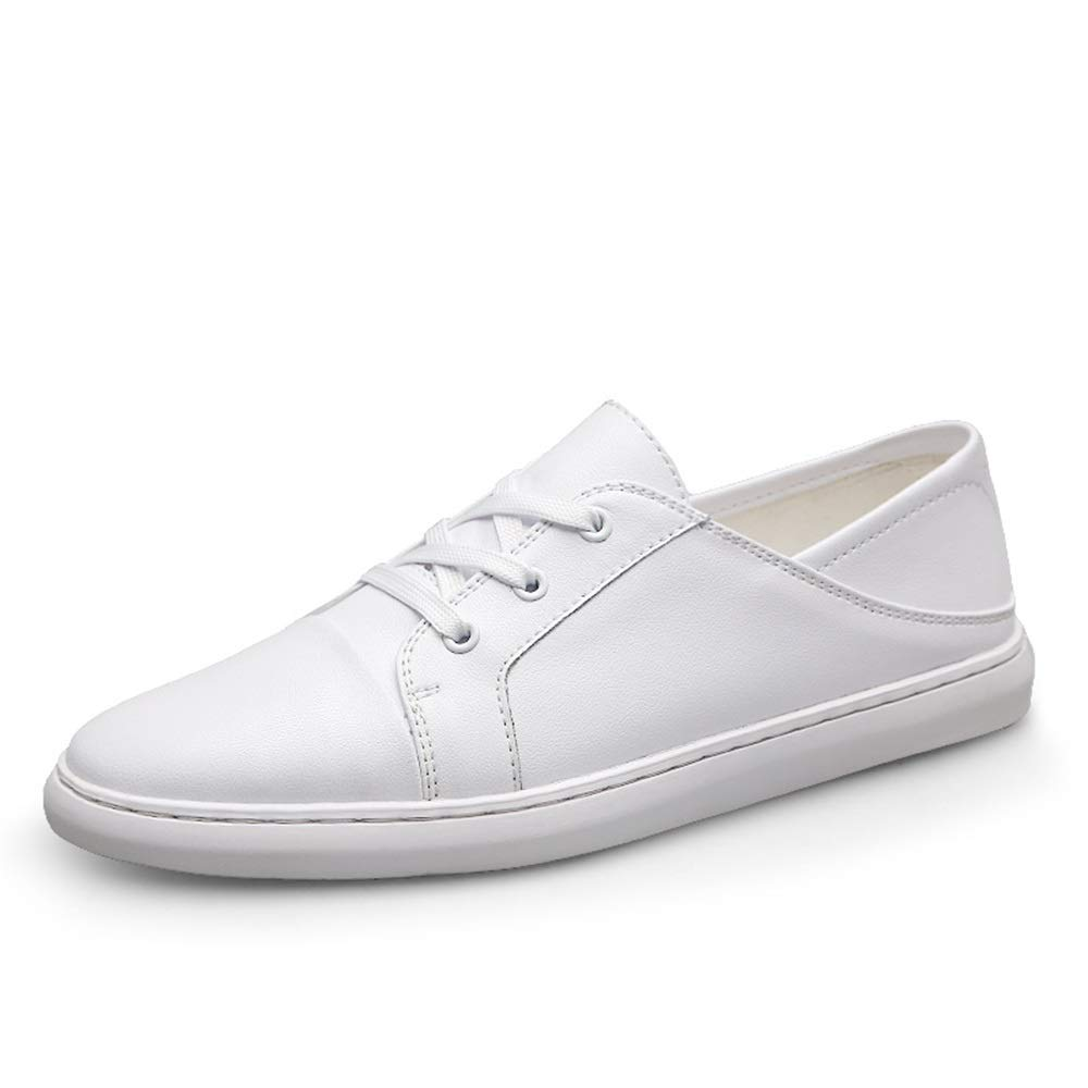 White Easy Go Shopping Athletic shoes for Men Lace Up Style Fashion Sports shoes OX Leather Light and Soft Dual Purpose Cricket shoes
