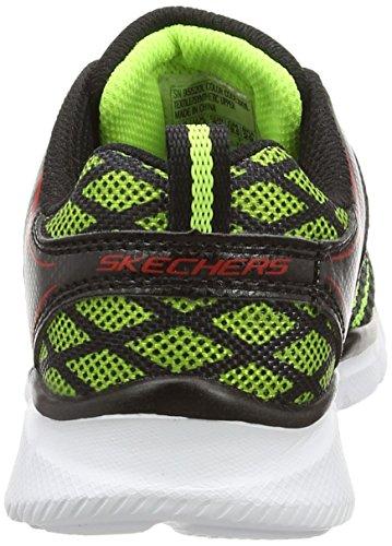 Skechers EqualizerQuick Track - zapatilla deportiva de lona niños negro - Schwarz (Bkyl)