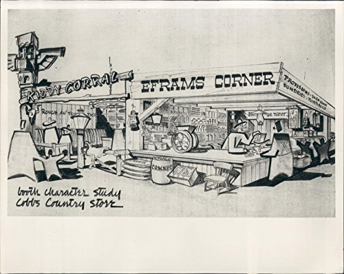 1952 Drawing Cobbs Country Store Miami FL Shopping Center Press - Shopping Centres Miami