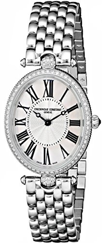 - Frederique Constant Women's FC200MPW2VD6B Art Deco Diamond-Accented Stainless Steel Watch
