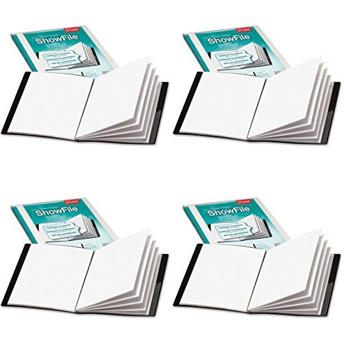 Cardinal by TOPS Products Custom ShowFile Presentation Book, 8.5 x 11 Inch Sheet Size, 6 Pockets, Black (50032CB), 4 Packs