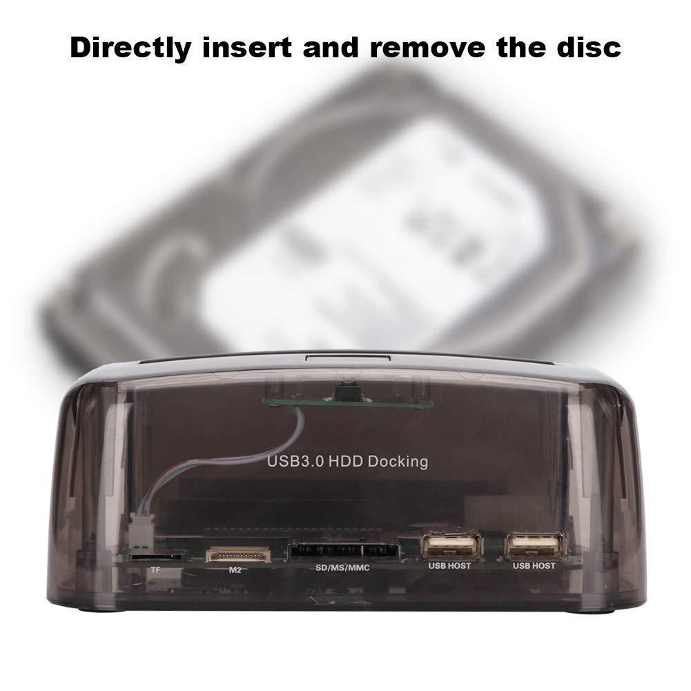 Universal USB3.0 zu IDE//SATA Dualschacht Festplatten-Docking Station Multifunktion f/ür 2,5//3,5 Zoll SATAI//II//III Festplatten EU ASHATA USB 3.0 Externe Festplatten Dockingstation