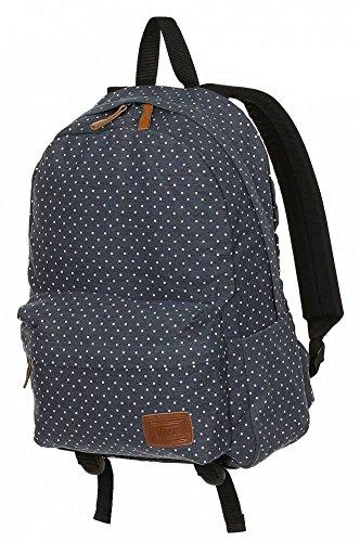 Vans Womens Deana Black White Polka Dots Backpack School Bag