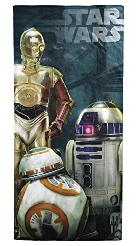 Star Wars Ep7 The Droids Beach, Bath, Pool Cotton Towel by Disney