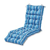 outdoor chaise lounge cushions Greendale Home Fashions 72-inch Outdoor Chaise Lounge Cushion, Sapphire