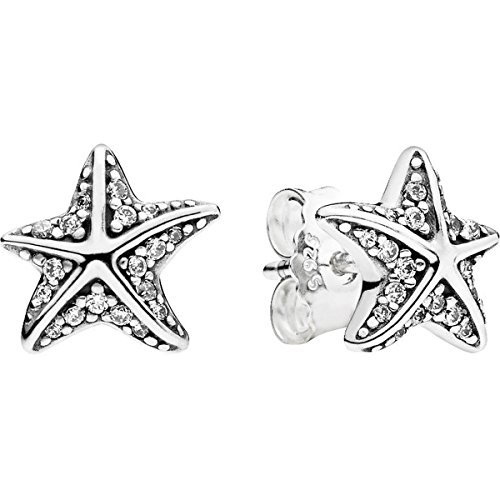 Pandora Sterling Silver Starfish Stud Earrings 290748CZ