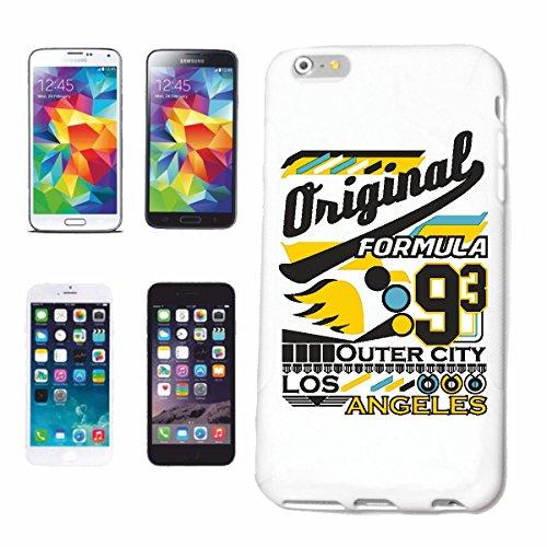 """cas de téléphone iPhone 7+ Plus """"FORMULAIRE ORIGINAL 93 EXTERIEUR CITY LOS ANGELES MOTOR OIL RACING AMERICA ÉTATS-UNIS USA HOTROD"""" Hard Case Cover Téléphone Covers Smart Cover pour Apple iPhone en bla"""