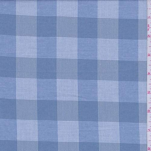 Plaid Glen Fabric (Dusty Blue Glen Plaid Check Flannel, Fabric by The Yard)