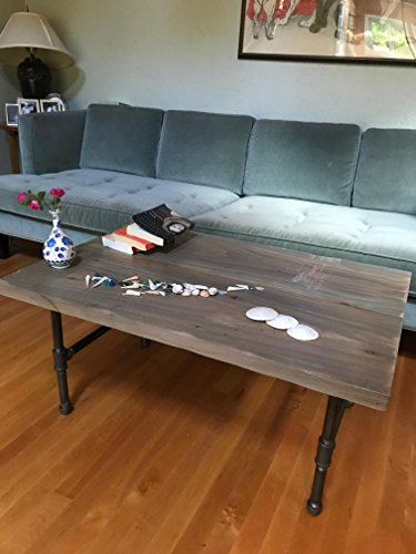 Driftwood Coffee Table, Modern, Industrial, Rustic, Salvaged Wood Coffee Table with Steel Pipe Legs
