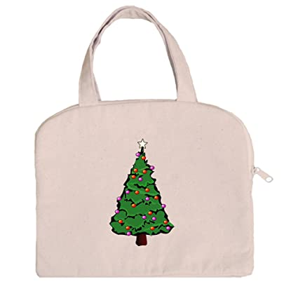 tablet bag case canvas handles christmas tree holiday image 4 by style in print - Christmas Tree Bags Amazon