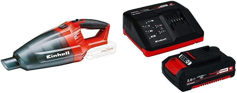 Einhell 2347120 Aspiradora de mano Negro, Rojo + 4512040 Kit con ...