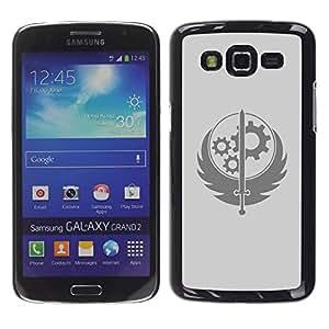 EJOY---Cubierta de la caja de protección la piel dura para el / Samsung Galaxy Grand 2 / --Rueda Espada sesión