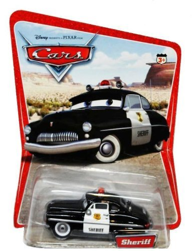 - Disney Pixar Cars Sheriff Original Issue Desert Scene Background Card 12 Cars on Back of Card With Fillmore Spelled Correctly 1:55 Scale Mattel