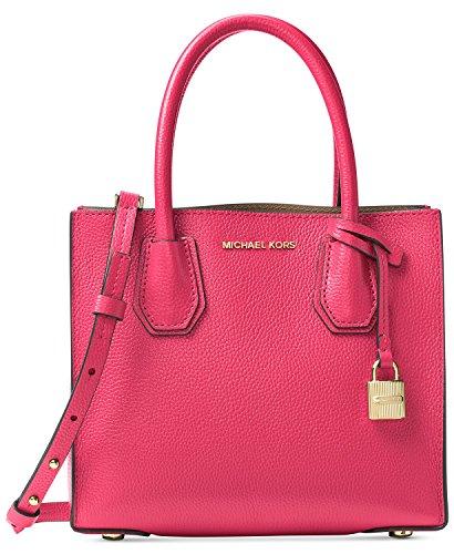 MICHAEL Michael Kors Mercer Leather Crossbody (Rose Pink)