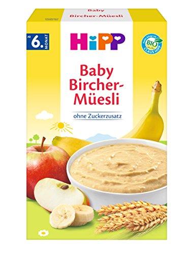 Hipp Bio-Getreide-Brei Guten-Morgen-Brei Bircher-Müesli, 6er Pack (6 x 250g) 2861 Bio-Getreidebrei Guten Morgen