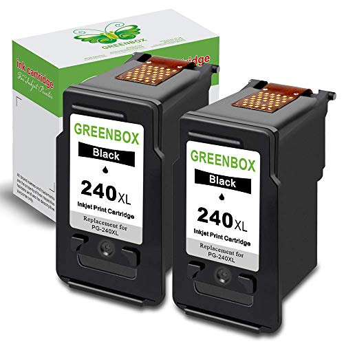 Series Printer Color 2500 (GREENBOX Re-Manufactured Ink Cartridge Replacement for Canon PG-240XL 240 XL Used in Canon PIXMA MG3620 MX472 MX452 MG3220 MG3520 MG2220 MX392 MX432 MX512 MG2120 MX522 (2 Black))