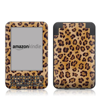 Leopard Spots Design Protective Decal Skin Sticker for Amazon Kindle Keyboard / Keyboard 3G (3rd Gen) E-Book Reader - High Gloss (Leopard Faceplate)