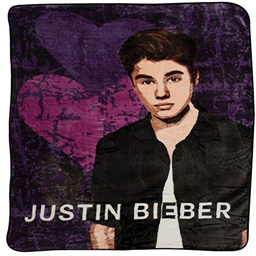 Justin Bieber - Heartbreak Twin Blanket (Purple Justin Bieber Blanket)