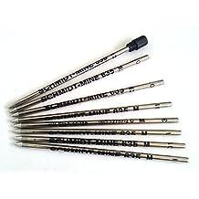 8 X Schmidt 635M Mini Ball Pen Refill - BLUE - (Lamy M21 and Cross 8518-4 Compatible)