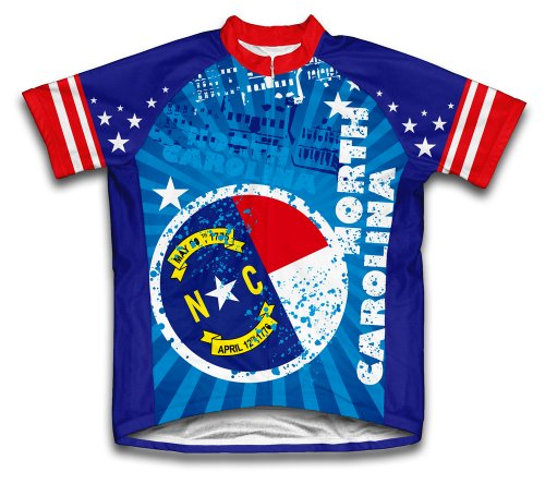 ScudoPro North Carolina Short Sleeve Cycling Jersey for Men - Size 2XL Blue