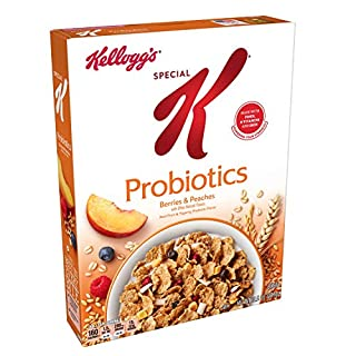 Kellogg's Special K Probiotics, Breakfast Cereal, Berries and Peaches, Low Fat, 10.5oz Box