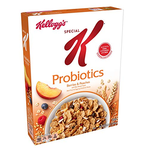 Yogurt Fruit And - Kellogg's Special K Probiotics, Breakfast Cereal, Berries and Peaches, Low Fat, 10.5oz Box