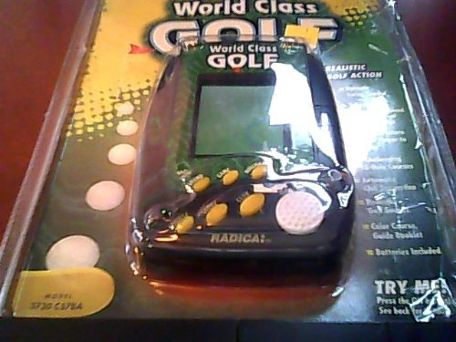 Radica World Class Golf Lcd Interactive Electronic Hand-held Game Model#3730 Cs7ba P/n 50811400 Rev.a L (Radica Electronic Golf Game) with Buttons of On-stroke, Game, Course, Club, Mulligan, Score, Sound & ()